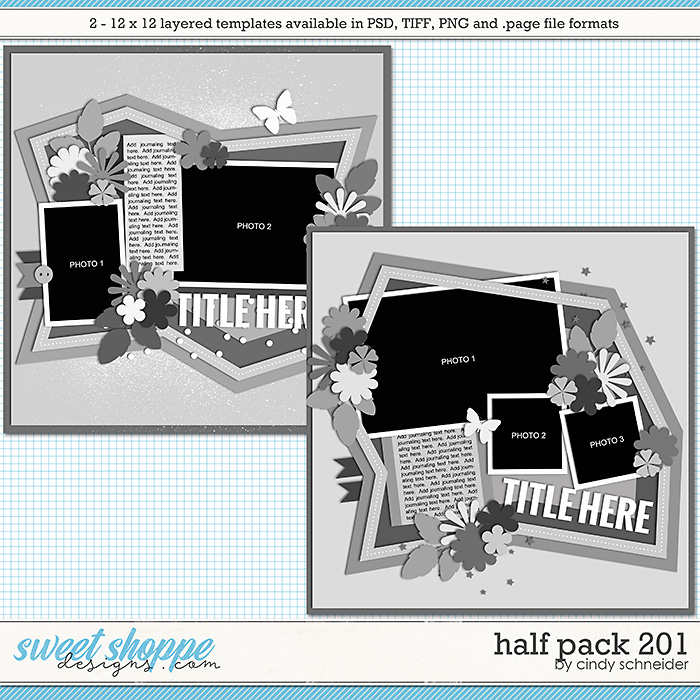 Cindy's Layered Templates - Half Pack 201 by Cindy Schneider
