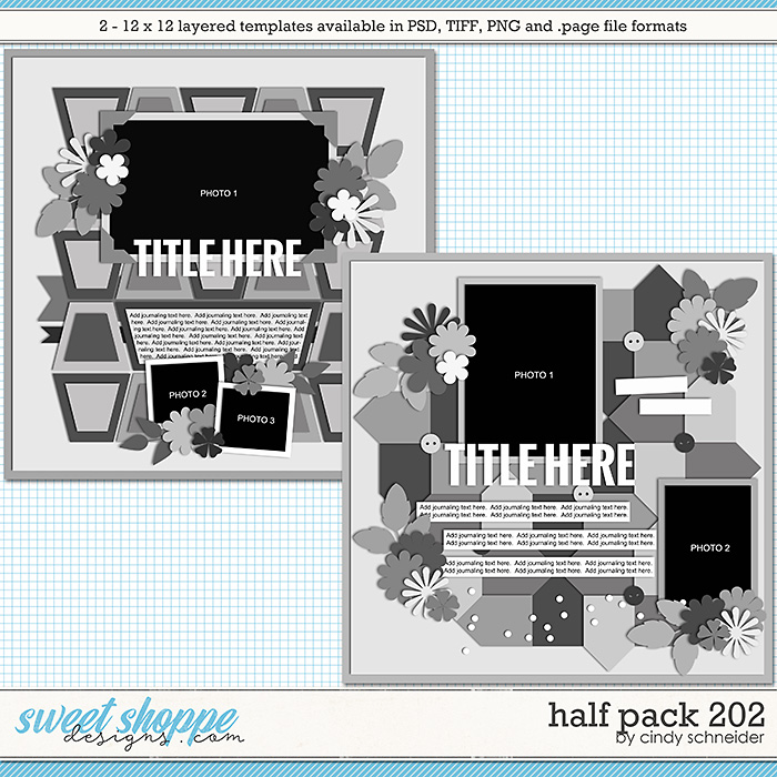 Cindy's Layered Templates - Half Pack 202 by Cindy Schneider