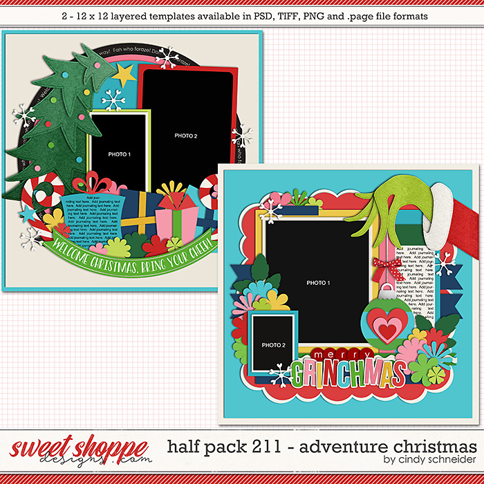Cindy's Layered Templates - Half Pack 211: Adventure Christmas by Cindy Schneider