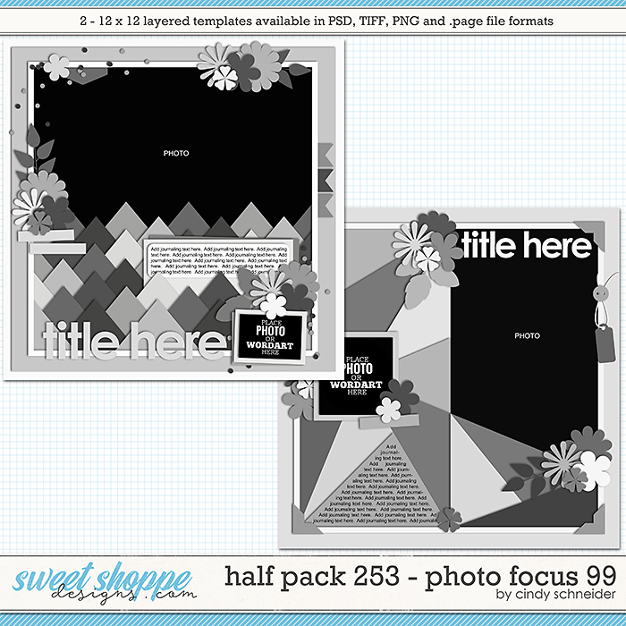 Cindy's Layered Templates - Half Pack 253: Photo Focus 99 by Cindy Schneider