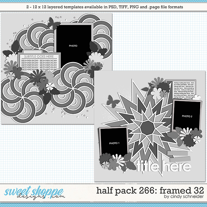 Cindy's Layered Templates - Half Pack 266: Framed 32 by Cindy Schneider