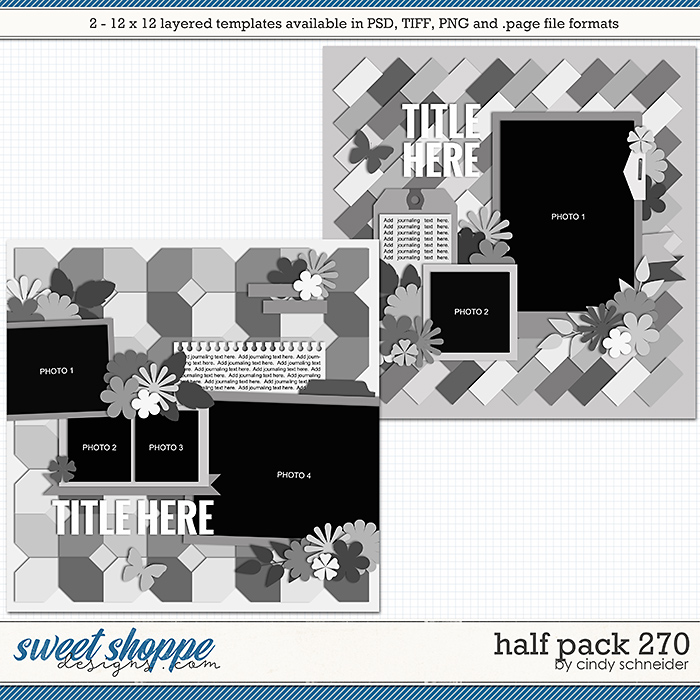 Cindy's Layered Templates - Half Pack 270 by Cindy Schneider