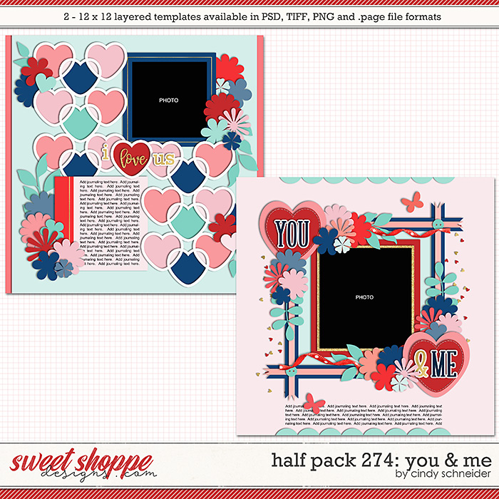 Cindy's Layered Templates - Half Pack 274: You & Me by Cindy Schneider