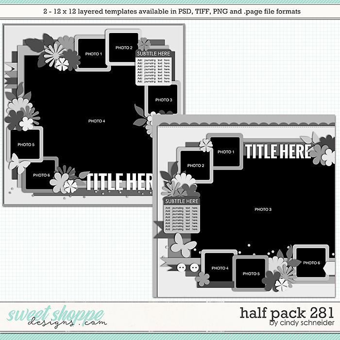 Cindy's Layered Templates - Half Pack 281 by Cindy Schneider