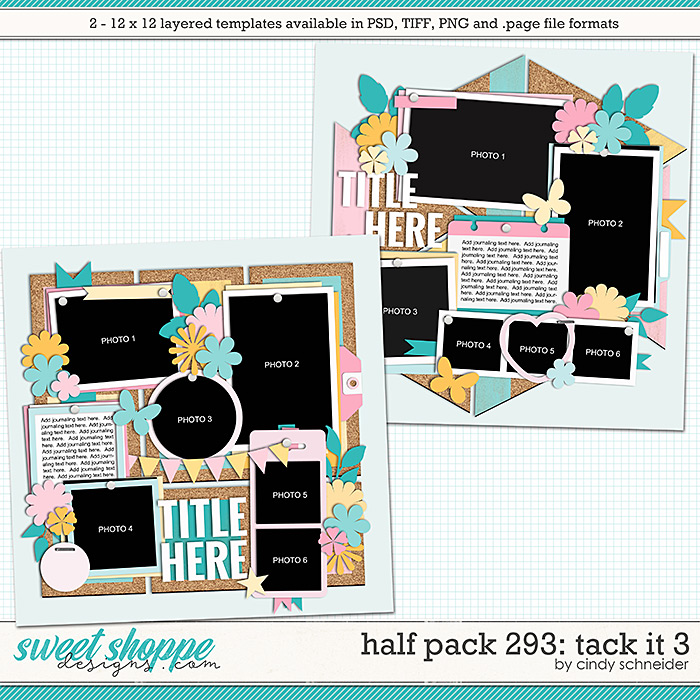 Cindy's Layered Templates - Half Pack 293: Tack It 3 by Cindy Schneider