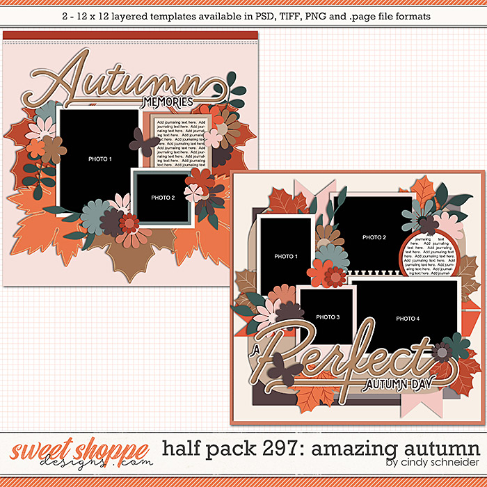 Cindy's Layered Templates - Half Pack 297: Amazing Autumn by Cindy Schneider
