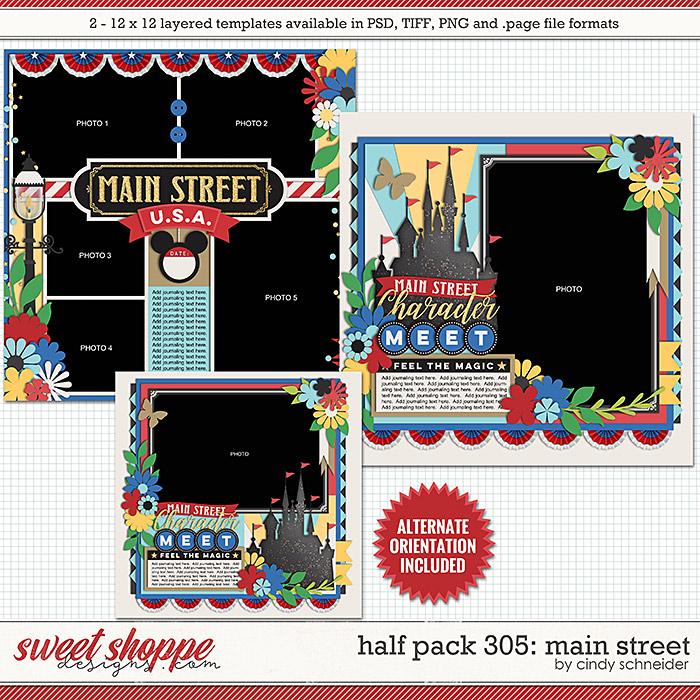 Cindy's Layered Templates - Half Pack 305: Main Street by Cindy Schneider