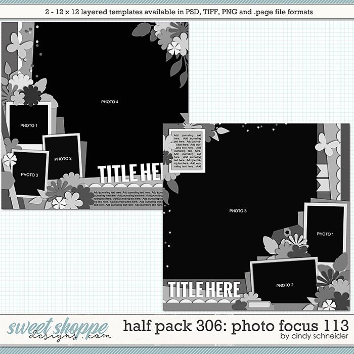 Cindy's Layered Templates - Half Pack 306: Photo Focus 113 by Cindy Schneider