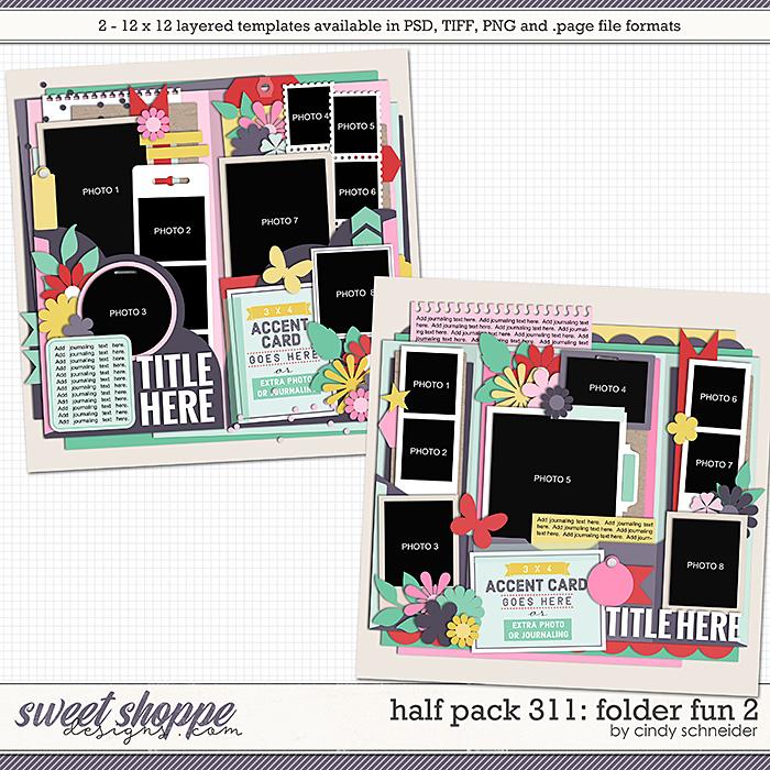 Cindy's Layered Templates - Half Pack 311: Folder Fun 2 by Cindy Schneider