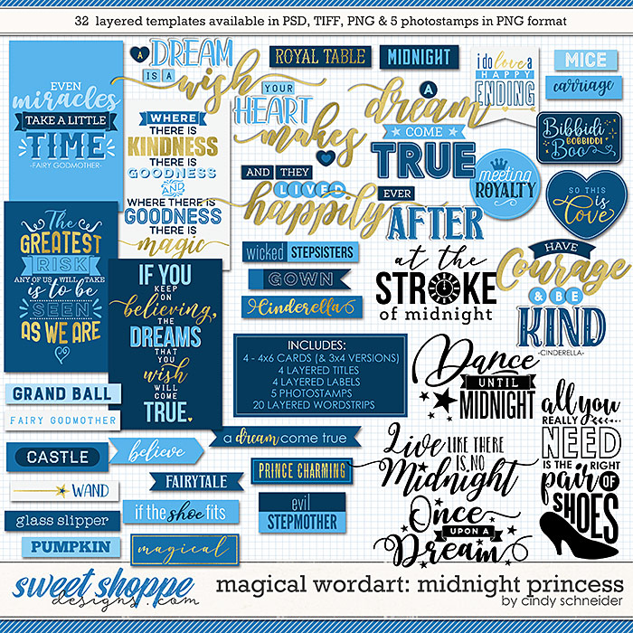 Cindy's Magical Wordart: Midnight Princess by Cindy Schneider