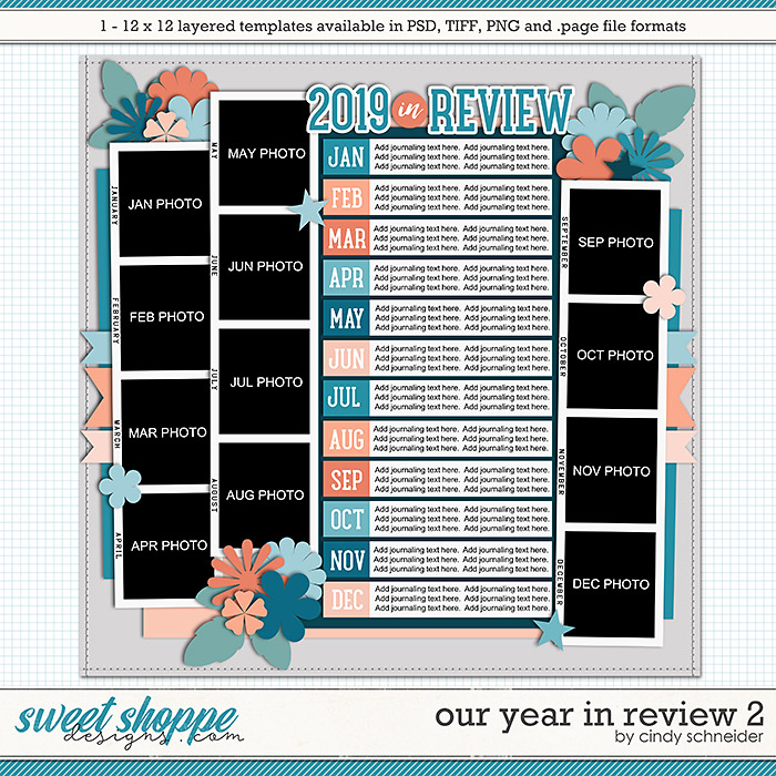 Cindy's Layered Templates - Our Year in Review 2 by Cindy Schneider