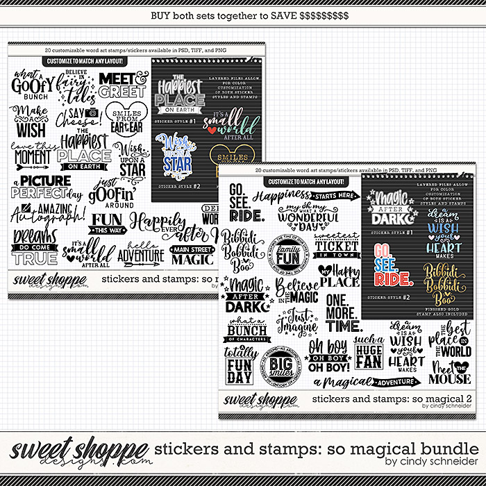 Cindy's Layered Stamps and Stickers: So Magical Bundle by Cindy Schneider