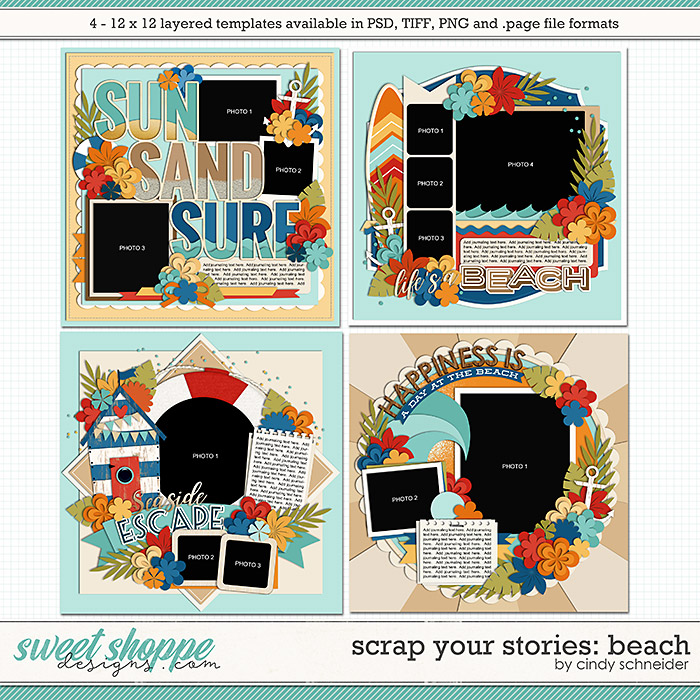 Cindy's Layered Templates - Scrap Your Stories: Beach by Cindy Schneider