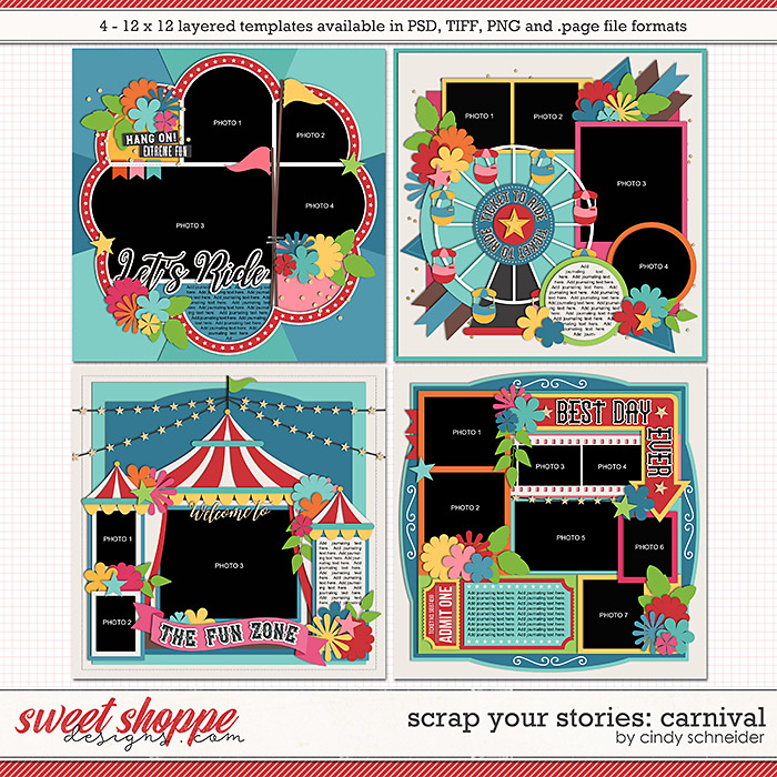 Cindy's Layered Templates - Scrap Your Stories: Carnival by Cindy Schneider