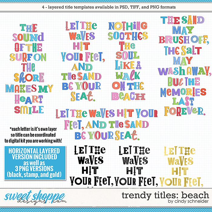Cindy's Layered Templates - Trendy Titles: Beach by Cindy Schneider