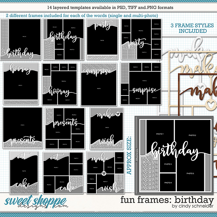 Cindy's Layered Templates - Fun Frames: Birthday by Cindy Schneider