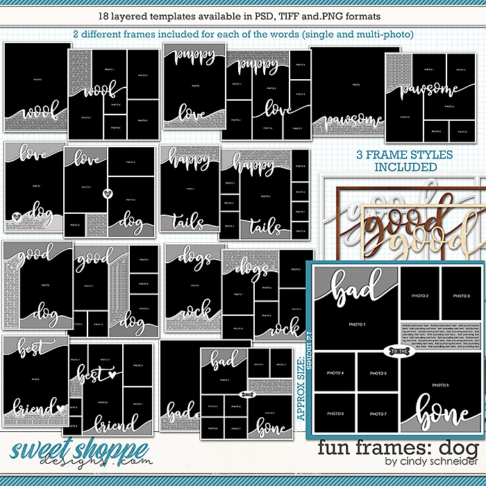 Cindy's Layered Templates - Fun Frames: Dog by Cindy Schneider