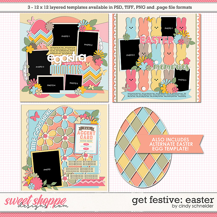 Cindy's Layered Templates - Get Festive: Easter by Cindy Schneider