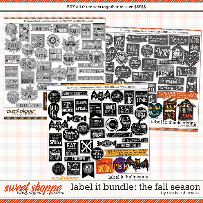 Cindy's Layered Templates - Label It Bundle: The Fall Season by Cindy Schneider