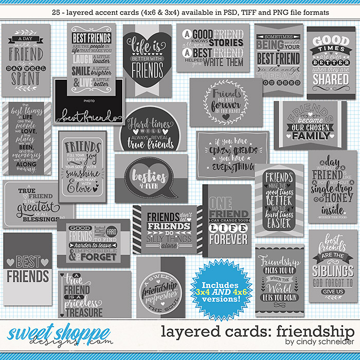 Cindy's Layered Cards - Friendship by Cindy Schneider