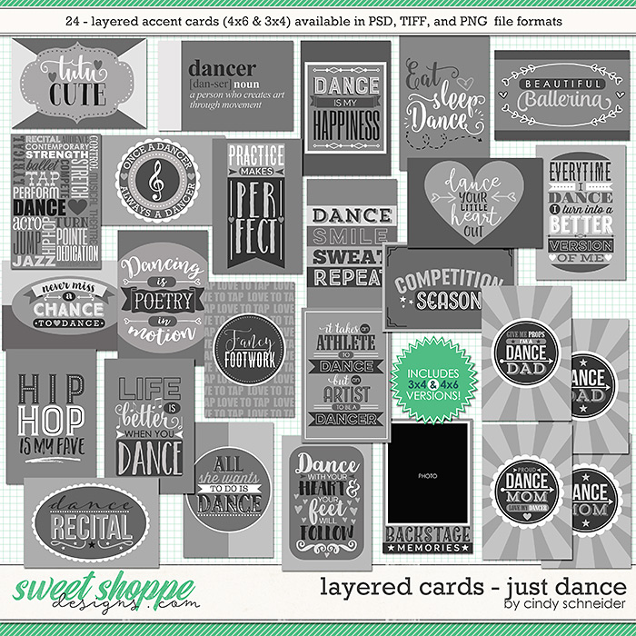 Cindy's Layered Cards: Just Dance by Cindy Schneider