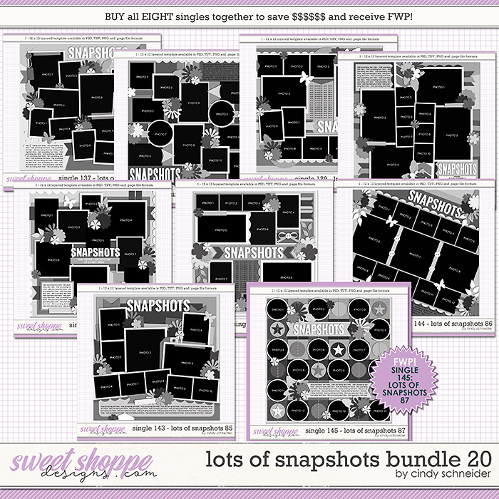 Cindy's Layered Templates - Lots of Snapshots Bundle 20 by Cindy Schneider
