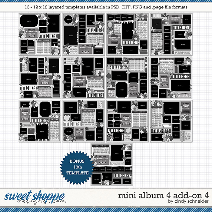 Cindy's Layered Templates - Mini Album 4 Add-on 4 by Cindy Schneider