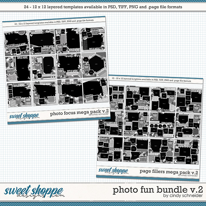 Cindy's Layered Templates - Photo Fun Bundle Volume 2 by Cindy Schneider
