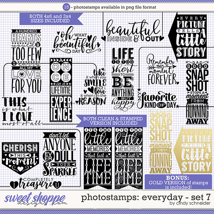 Cindy's Photostamps - Everyday Set 7 by Cindy Schneider