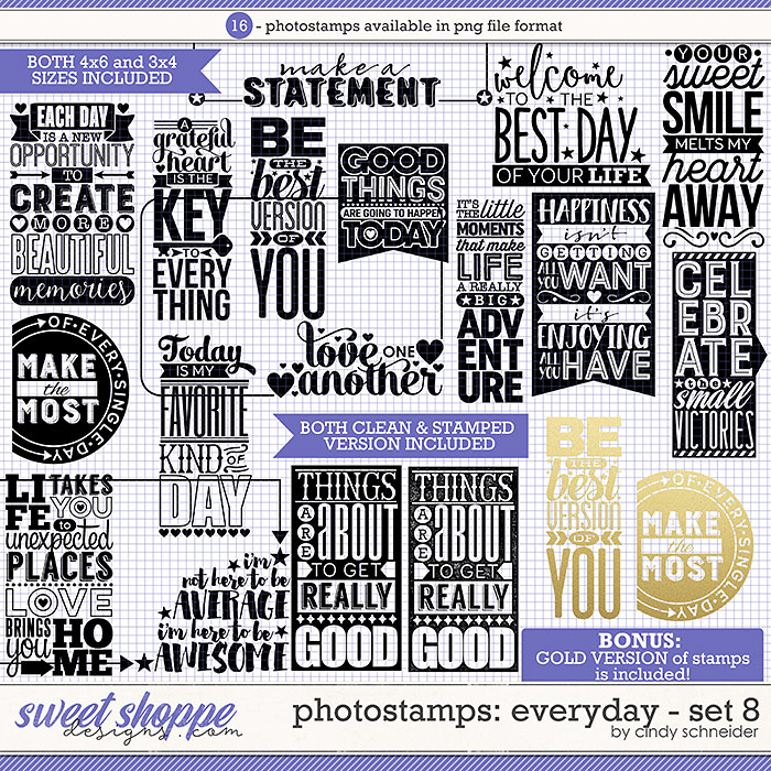 Cindy's Photostamps - Everyday Set 8 by Cindy Schneider