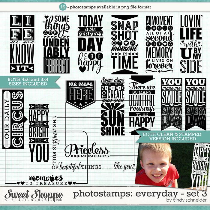 Cindy's Photostamps - Everyday Set 3 by Cindy Schneider