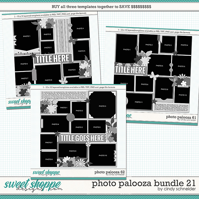 Cindy's Layered Templates - Photo Palooza Bundle 21 by Cindy Schneider