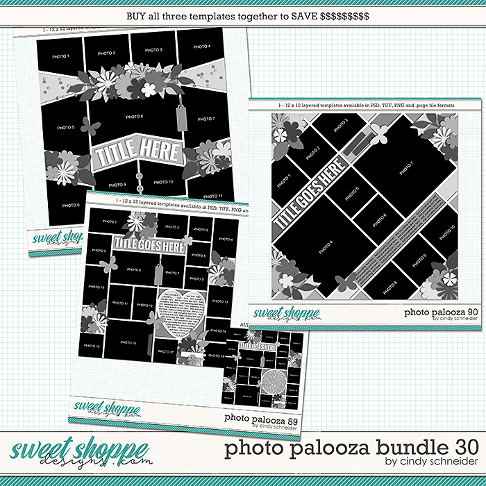 Cindy's Layered Templates - Photo Palooza Bundle 30 by Cindy Schneider