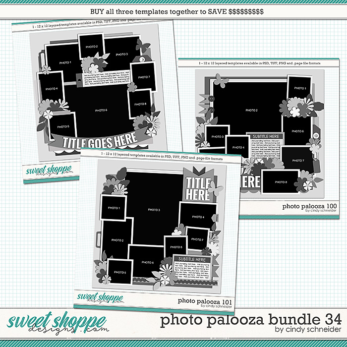 Cindy's Layered Templates - Photo Palooza Bundle 34 by Cindy Schneider