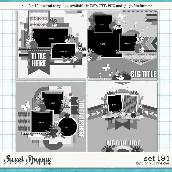 Cindy's Layered Templates - Set 194 by Cindy Schneider