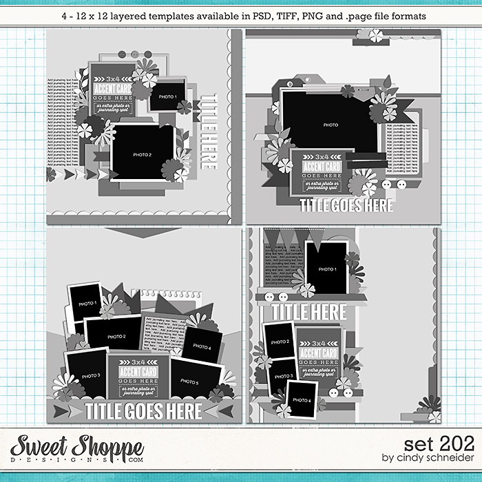 Cindy's Layered Templates - Set 202 by Cindy Schneider