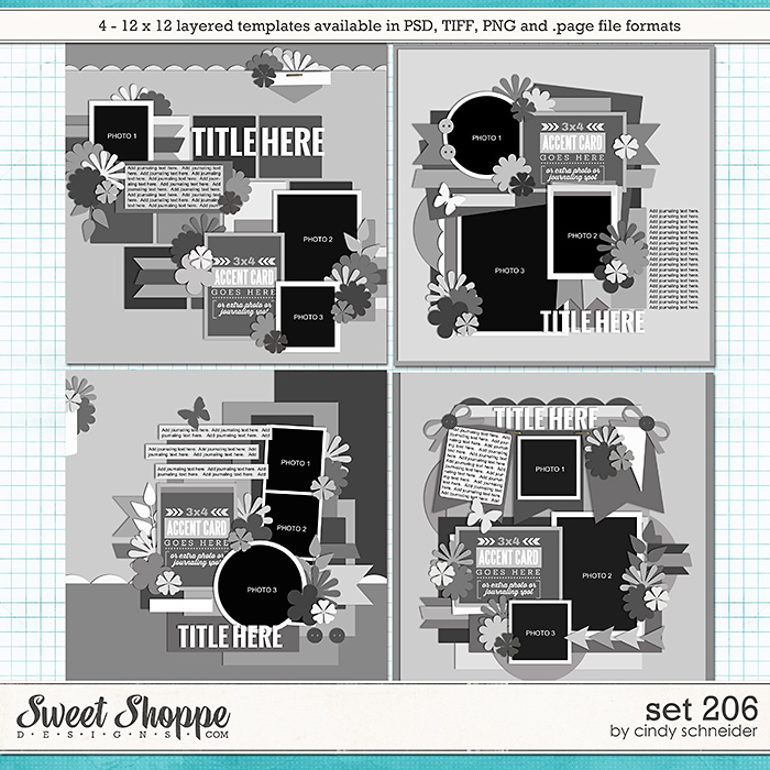 Cindy's Layered Templates - Set 206 by Cindy Schneider