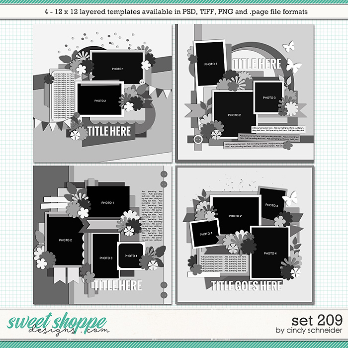 Cindy's Layered Templates - Set 209 by Cindy Schneider