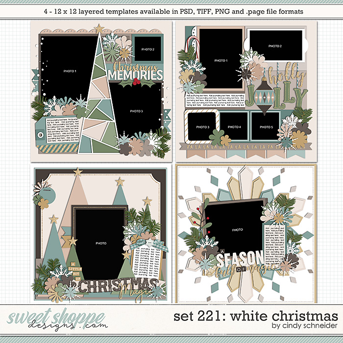 Cindy's Layered Templates - Set 221: White Christmas by Cindy Schneider