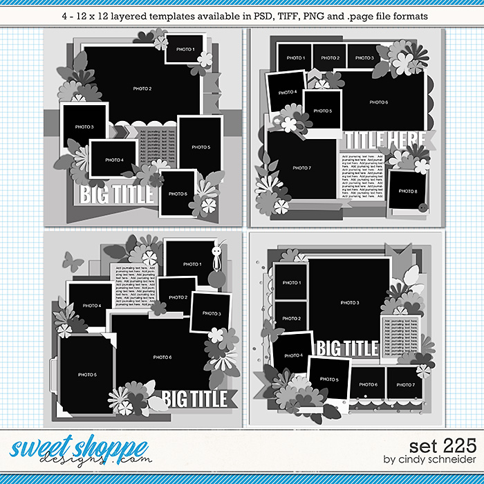 Cindy's Layered Templates - Set 225 by Cindy Schneider