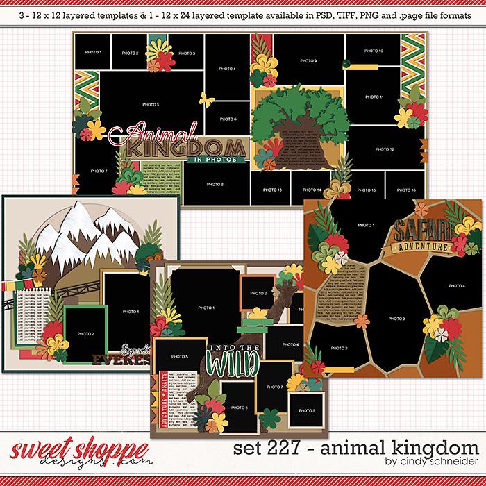 Cindy's Layered Templates - Set 227: Animal Kingdom by Cindy Schneider
