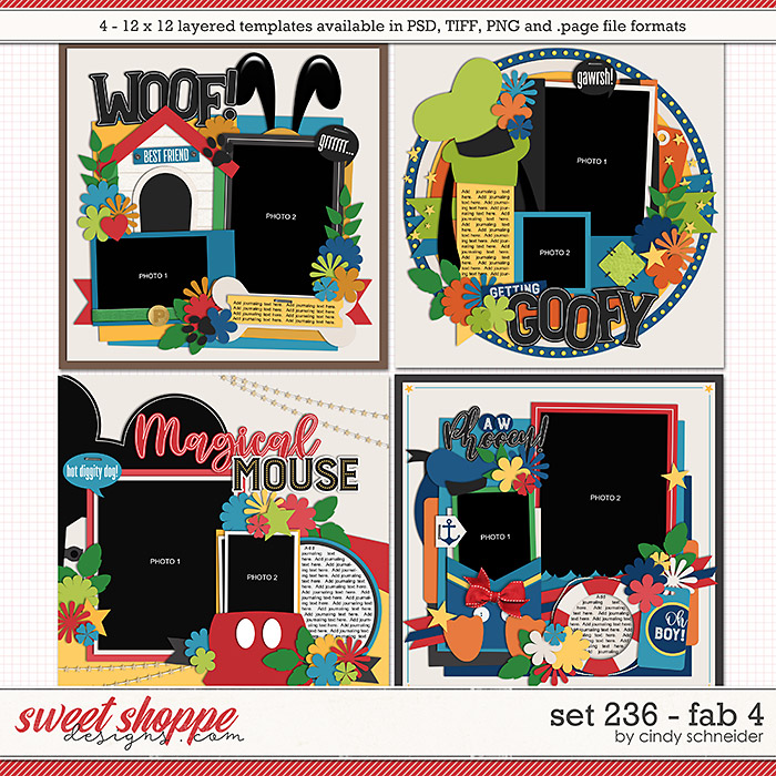 Cindy's Layered Templates - Set 236: Fab 4 by Cindy Schneider