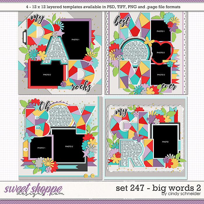 Cindy's Layered Templates - Set 247: Big Words 2 by Cindy Schneider