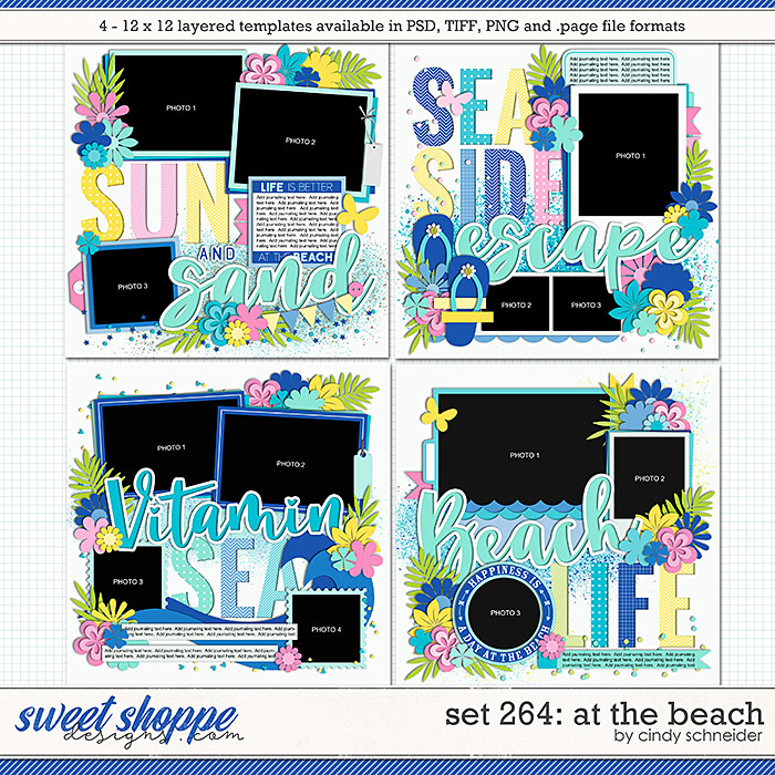 Cindy's Layered Templates - Set 264: At the Beach by Cindy Schneider
