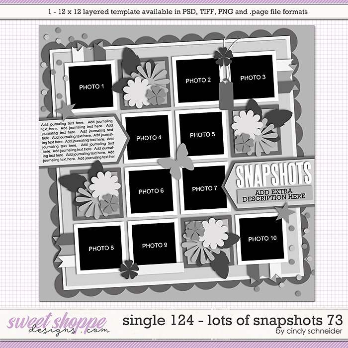 Cindy's Layered Templates - Single 124: Lots of Snapshots 73 by Cindy Schneider