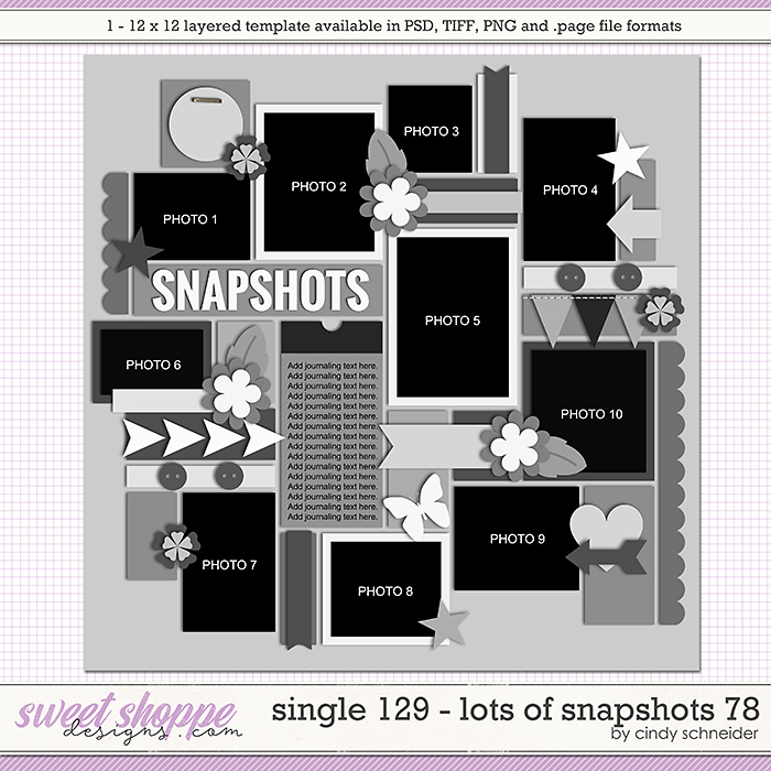 Cindy's Layered Templates - Single 129: Lots of Snapshots 78 by Cindy Schneider