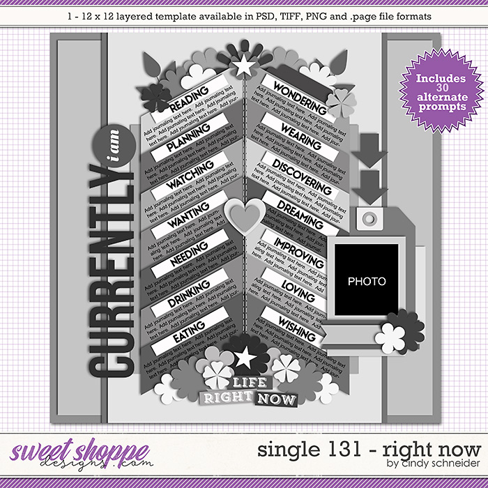 Cindy's Layered Templates - Single 131: Right Now by Cindy Schneider