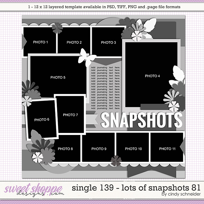 Cindy's Layered Templates - Single 139: Lots of Snapshots 81 by Cindy Schneider
