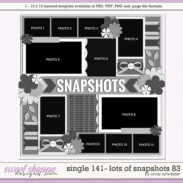 Cindy's Layered Templates - Single 141: Lots of Snapshots 83 by Cindy Schneider