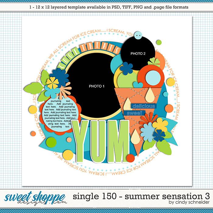 Cindy's Layered Templates - Single 150: Summer Sensations 3 by Cindy Schneider